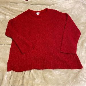 J.Jill pure Jill red chenille sweater MP